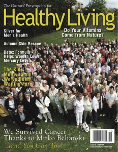Healthy Living Magazine dedicated its cover page and an article to the annual CIRIS picnic & Mirko Beljanski (2008)